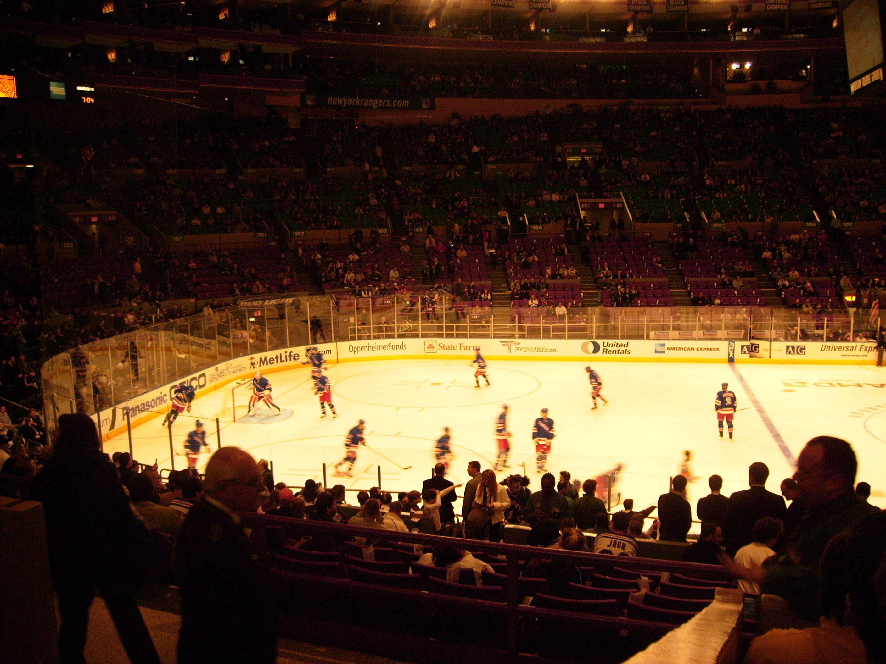 NHL au Madison Square Garden, Géant!!!!!!!